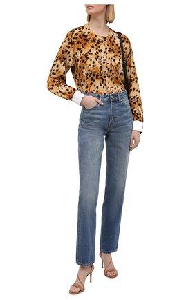 Женские кожаные босоножки manhattan 85 GIANVITO ROSSI бежевого цвета, арт. G30192.85RIC.VERPRAL   Фото 2