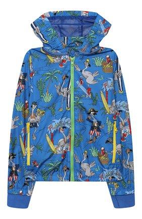 Детского ветровка STELLA MCCARTNEY синего цвета, арт. 602338/SQK29 | Фото 1