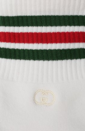 Детские хлопковые носки GUCCI белого цвета, арт. 643519/4H428 | Фото 2