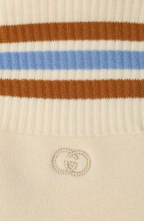 Детские хлопковые носки GUCCI бежевого цвета, арт. 643519/4H428 | Фото 2