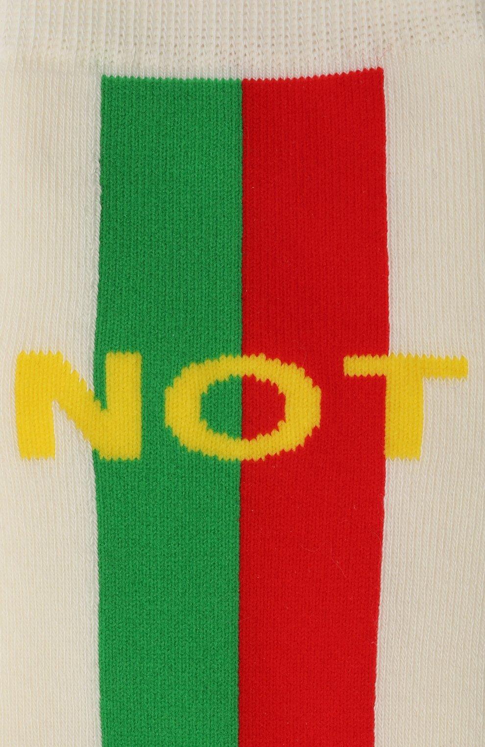 Детские хлопковые носки GUCCI бежевого цвета, арт. 645953/4K428 | Фото 2 (Материал: Текстиль, Хлопок)