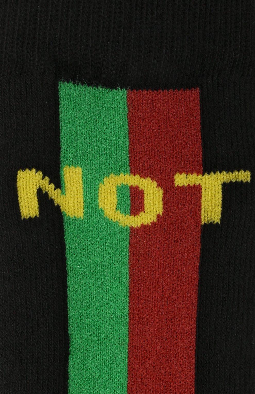 Детские хлопковые носки GUCCI черного цвета, арт. 646136/3K659   Фото 2 (Материал: Текстиль, Хлопок)