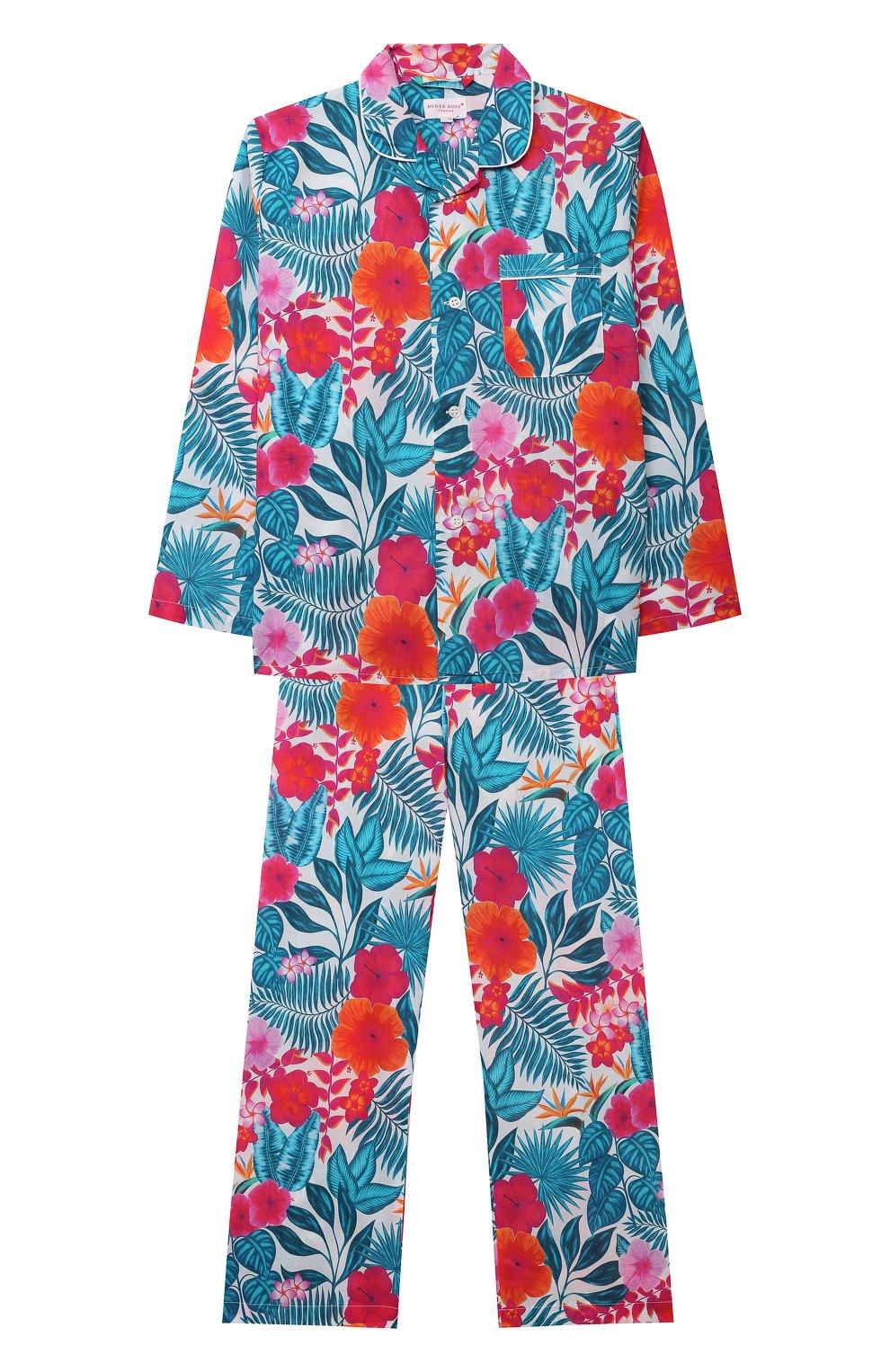 Детская хлопковая пижама DEREK ROSE разноцветного цвета, арт. 7025-LEDB044/3-12 | Фото 1