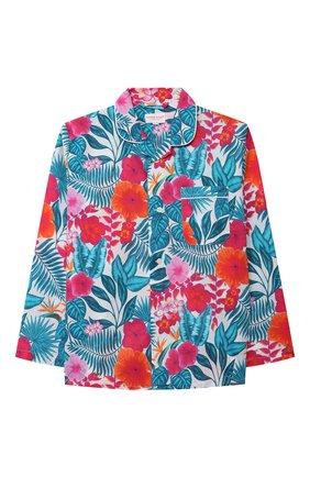 Детская хлопковая пижама DEREK ROSE разноцветного цвета, арт. 7025-LEDB044/3-12 | Фото 2