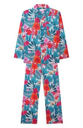 Детская хлопковая пижама DEREK ROSE разноцветного цвета, арт. 7025-LEDB044/13-16 | Фото 1