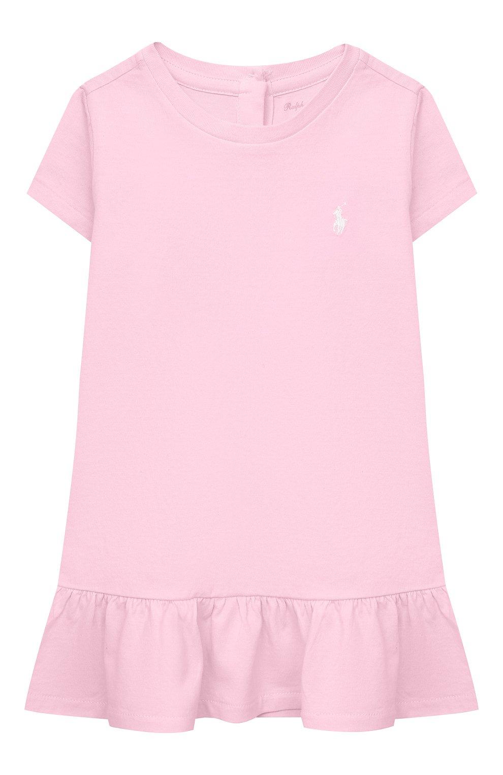 Женский комплект из платья и шорт POLO RALPH LAUREN розового цвета, арт. 310835081 | Фото 2