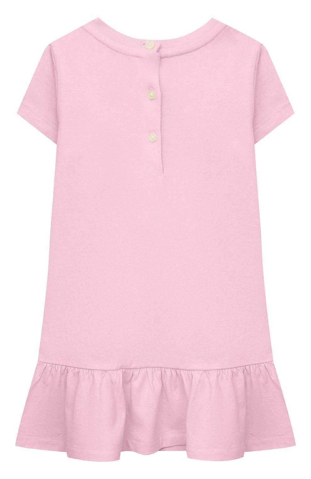 Женский комплект из платья и шорт POLO RALPH LAUREN розового цвета, арт. 310835081 | Фото 3