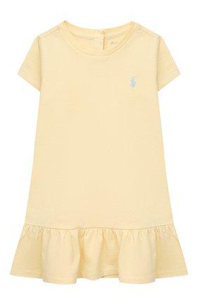 Женский комплект из платья и шорт POLO RALPH LAUREN желтого цвета, арт. 310835081 | Фото 2