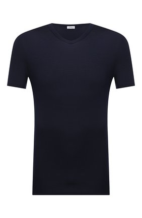 Мужская футболка ZIMMERLI темно-синего цвета, арт. 700-1346 | Фото 1