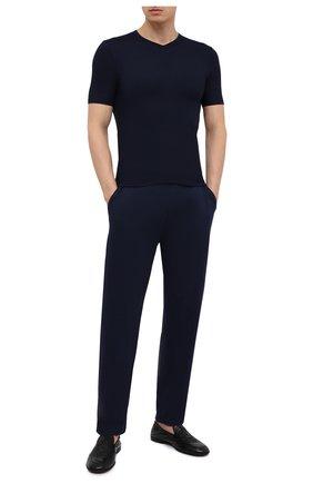 Мужская футболка ZIMMERLI темно-синего цвета, арт. 700-1346 | Фото 2