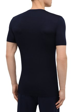 Мужская футболка ZIMMERLI темно-синего цвета, арт. 700-1346 | Фото 4 (Кросс-КТ: домашняя одежда; Рукава: Короткие; Материал внешний: Синтетический материал; Длина (для топов): Стандартные; Мужское Кросс-КТ: Футболка-белье)