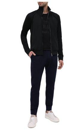 Мужские шерстяные джоггеры BERLUTI синего цвета, арт. R19KTL33-001   Фото 2