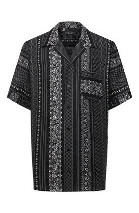 Мужская шелковая рубашка DOLCE & GABBANA черного цвета, арт. G5FX9T/IS1HD | Фото 1