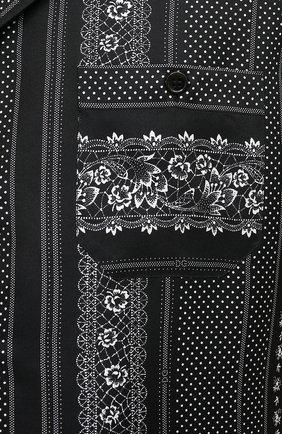 Мужская шелковая рубашка DOLCE & GABBANA черно-белого цвета, арт. G5FX9T/IS1HD | Фото 5
