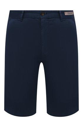 Мужские шорты из хлопка и шелка PAUL&SHARK темно-синего цвета, арт. 21414116/FIZ | Фото 1