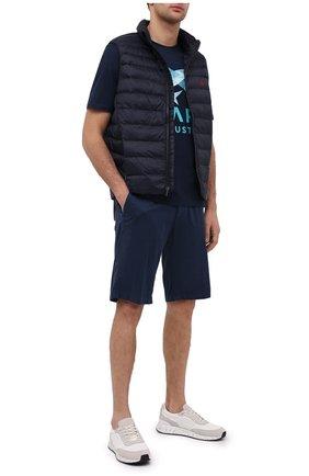 Мужские шорты из хлопка и шелка PAUL&SHARK темно-синего цвета, арт. 21414116/FIZ | Фото 2