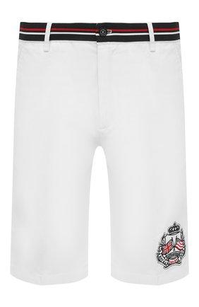 Мужские хлопковые шорты PAUL&SHARK белого цвета, арт. 21414059/E7A | Фото 1