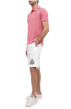 Мужские хлопковые шорты PAUL&SHARK белого цвета, арт. 21414059/E7A | Фото 2