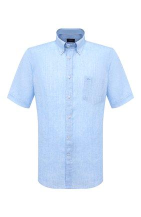 Мужская льняная рубашка PAUL&SHARK голубого цвета, арт. 21413031/F7E | Фото 1