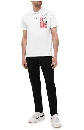 Мужское хлопковое поло PAUL&SHARK белого цвета, арт. 21411343/C00 | Фото 2