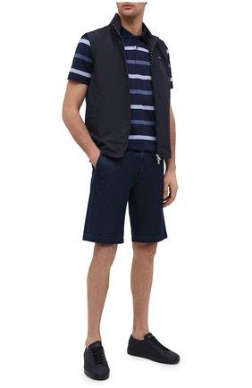 Мужское хлопковое поло PAUL&SHARK синего цвета, арт. 21411216/C00 | Фото 2