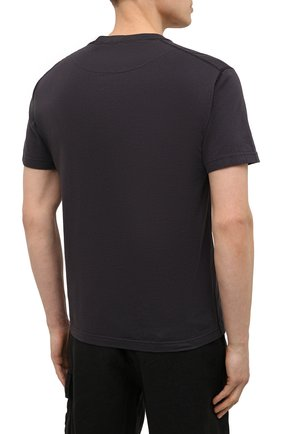 Мужская хлопковая футболка STONE ISLAND темно-серого цвета, арт. 741523757 | Фото 4