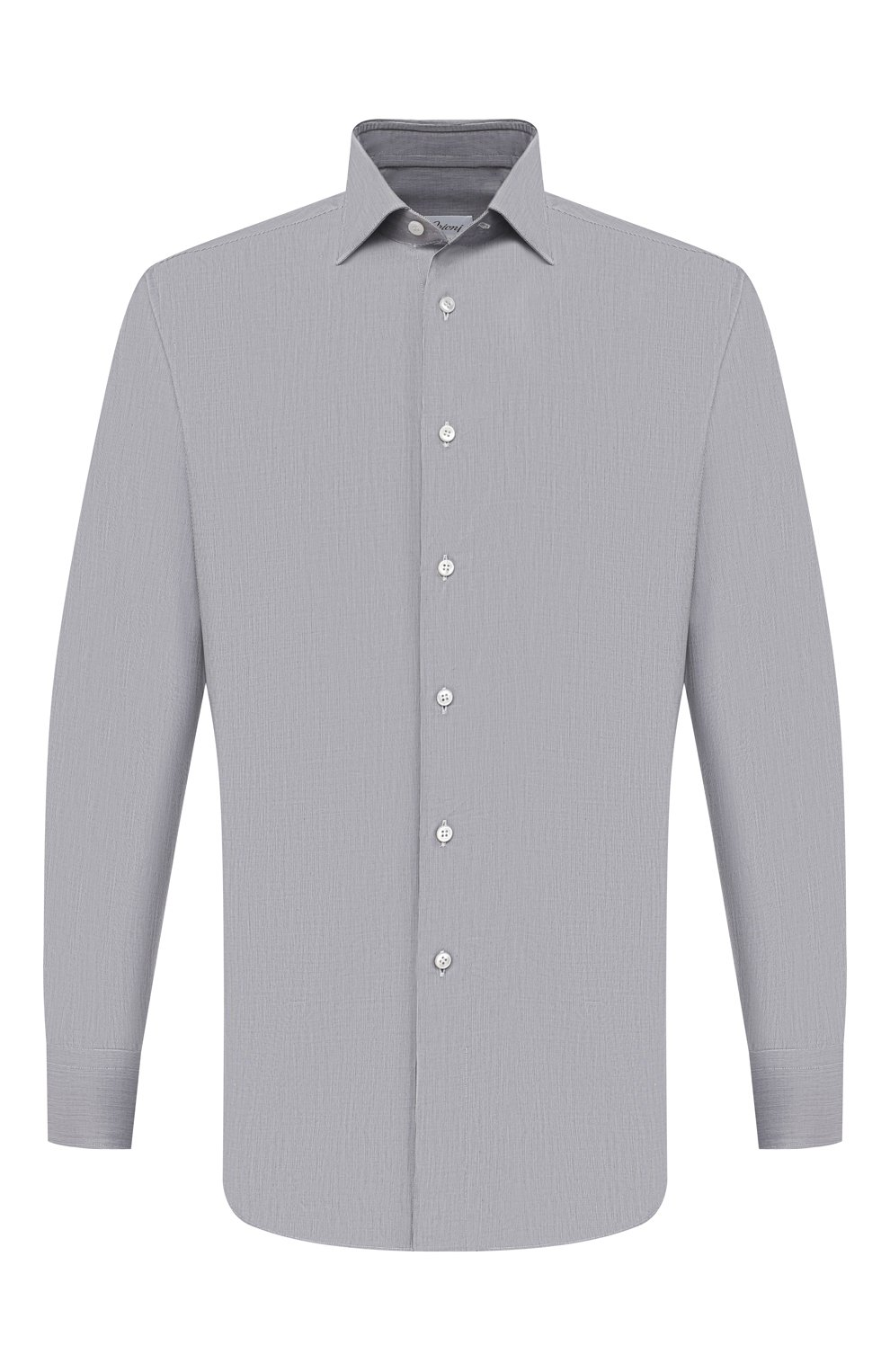 Мужская хлопковая сорочка BRIONI серого цвета, арт. RCH10L/P004R   Фото 1