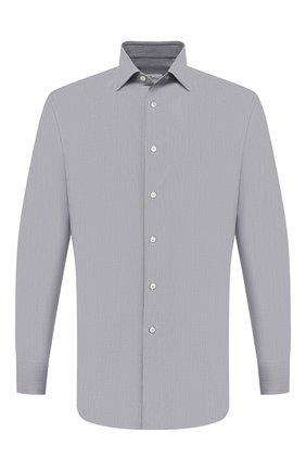 Мужская хлопковая сорочка BRIONI серого цвета, арт. RCH10L/P004R | Фото 1