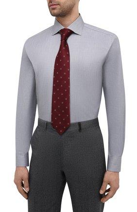 Мужская хлопковая сорочка BRIONI серого цвета, арт. RCH10L/P004R   Фото 4