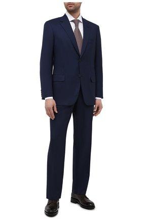 Мужской шерстяной костюм BRIONI темно-синего цвета, арт. RAH00Y/P0A66/PARLAMENT0 | Фото 1