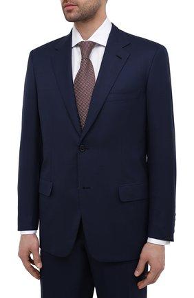 Мужской шерстяной костюм BRIONI темно-синего цвета, арт. RAH00Y/P0A66/PARLAMENT0 | Фото 2