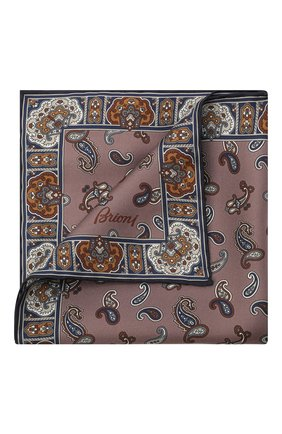 Мужской шелковый платок BRIONI розового цвета, арт. 071000/P0440 | Фото 1