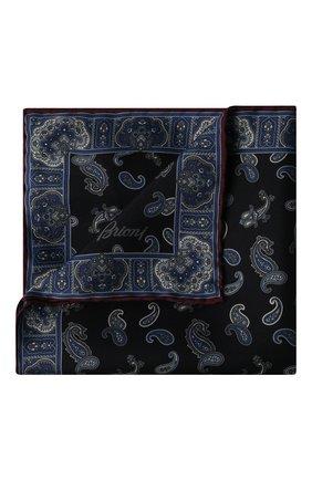 Мужской шелковый платок BRIONI темно-синего цвета, арт. 071000/P0440 | Фото 1