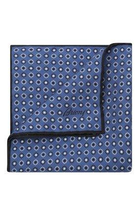 Мужской шелковый платок BRIONI голубого цвета, арт. 071000/P0424 | Фото 1