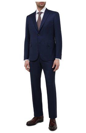 Мужской костюм из шерсти и шелка BRIONI темно-синего цвета, арт. RA0J0W/P0A44/BRUNIC0 | Фото 1