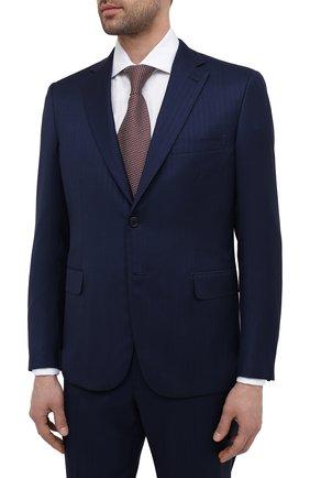 Мужской костюм из шерсти и шелка BRIONI темно-синего цвета, арт. RA0J0W/P0A44/BRUNIC0 | Фото 2
