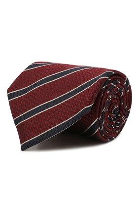 Мужской шелковый галстук ERMENEGILDO ZEGNA бордового цвета, арт. Z9D12/18B   Фото 1
