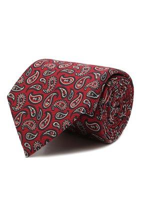 Мужской шелковый галстук ERMENEGILDO ZEGNA бордового цвета, арт. Z9D12/18B | Фото 1