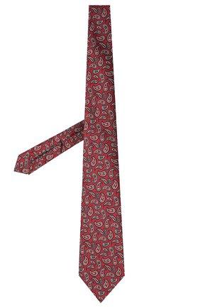 Мужской шелковый галстук ERMENEGILDO ZEGNA бордового цвета, арт. Z9D12/18B | Фото 2