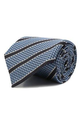 Мужской шелковый галстук ERMENEGILDO ZEGNA темно-синего цвета, арт. Z9D11/18B | Фото 1 (Принт: С принтом; Материал: Текстиль, Шелк)