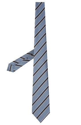 Мужской шелковый галстук ERMENEGILDO ZEGNA темно-синего цвета, арт. Z9D11/18B | Фото 2 (Принт: С принтом; Материал: Текстиль, Шелк)