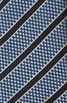 Мужской шелковый галстук ERMENEGILDO ZEGNA темно-синего цвета, арт. Z9D11/18B | Фото 3 (Принт: С принтом; Материал: Текстиль, Шелк)