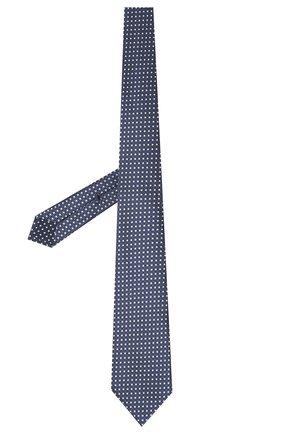 Мужской шелковый галстук ERMENEGILDO ZEGNA темно-синего цвета, арт. Z9D10/18B   Фото 2