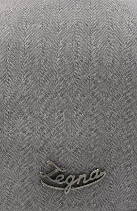Мужской бейсболка из шерсти и шелка ERMENEGILDO ZEGNA серого цвета, арт. Z7I10/B7C | Фото 3