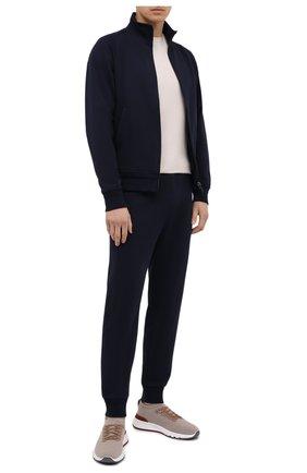 Мужской хлопковая толстовка ERMENEGILDO ZEGNA темно-синего цвета, арт. UW590/815   Фото 2