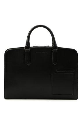 Мужская кожаная сумка для ноутбука ERMENEGILDO ZEGNA черного цвета, арт. C1576W-LHC0R | Фото 1