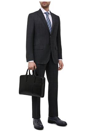 Мужская кожаная сумка для ноутбука ERMENEGILDO ZEGNA черного цвета, арт. C1576W-LHC0R | Фото 2
