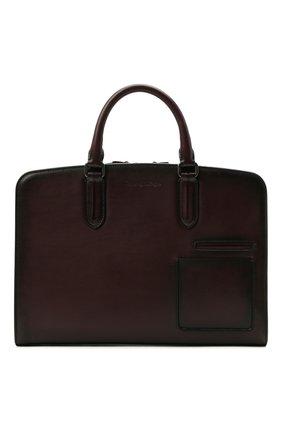 Мужская кожаная сумка для ноутбука ERMENEGILDO ZEGNA бордового цвета, арт. C1576W-LHC0R   Фото 1