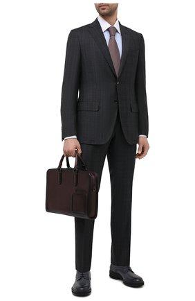 Мужская кожаная сумка для ноутбука ERMENEGILDO ZEGNA бордового цвета, арт. C1576W-LHC0R   Фото 2