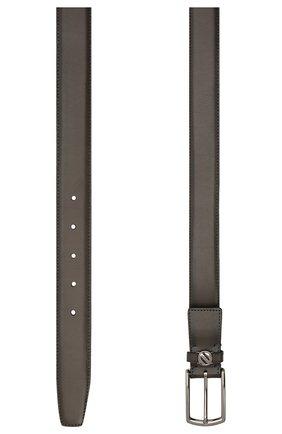 Мужской кожаный ремень ERMENEGILDO ZEGNA темно-коричневого цвета, арт. BVIR3G/J1260A | Фото 2